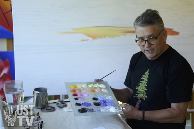 Bert Liverance explains his method of painting with oils