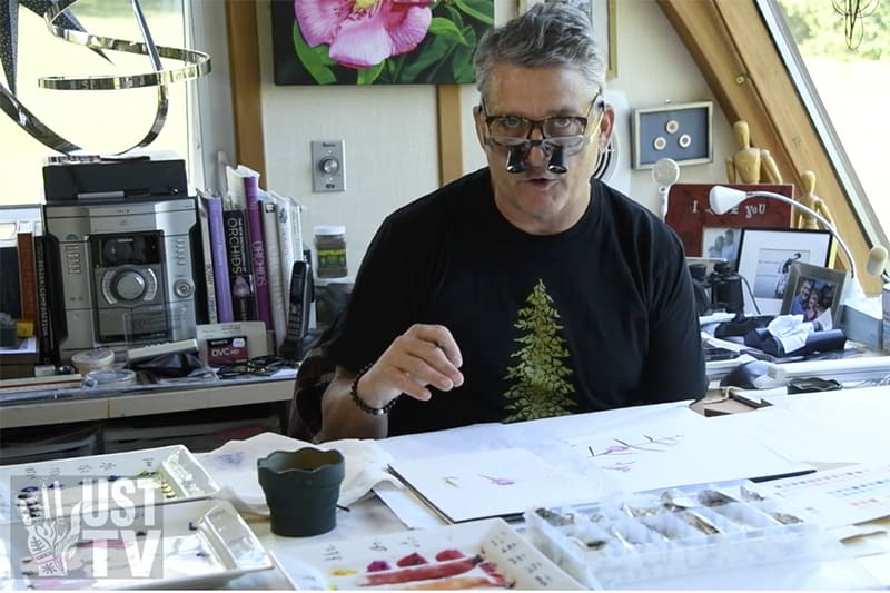 Bert Liverance explains his method of painting with watercolours
