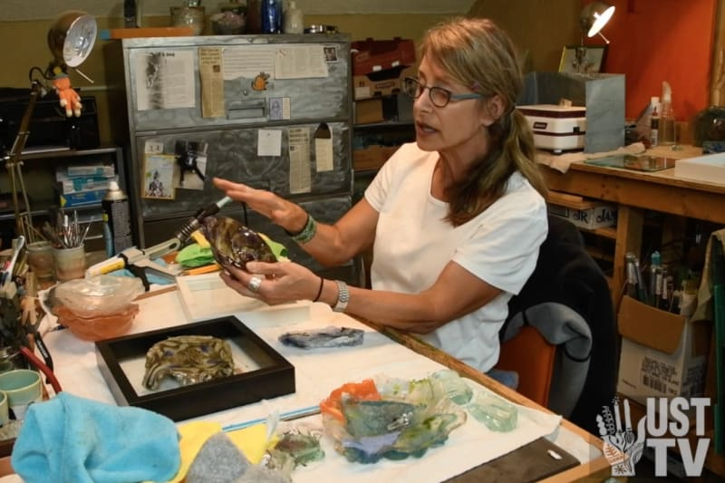 Gayle Temple, glass artist explains fused glass